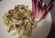 Tagliatelle radicchio tardivo, gorgonzola e noci