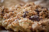 Torta sbrisolona cioccolato, pistacchi e arancia candita