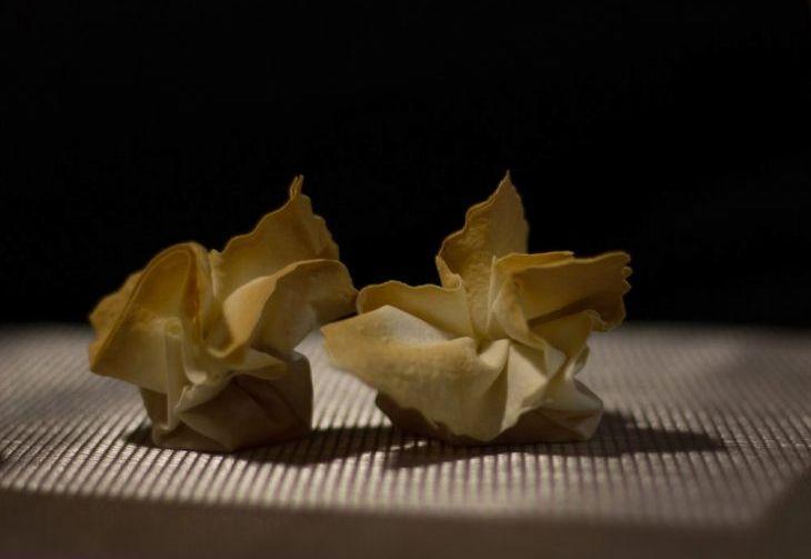 Fagottini di pasta fillo con crema di zucca