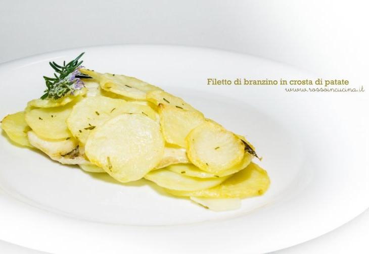 Filetto di branzino in crosta di patate