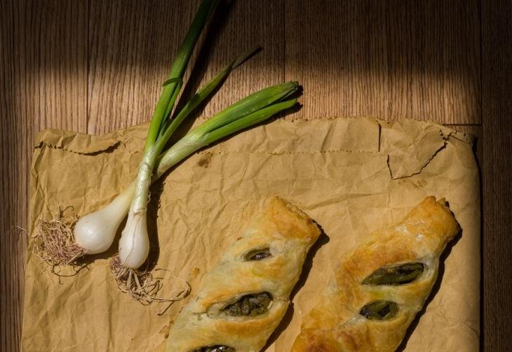 Mini strudel di pasta sfoglia alle verdure